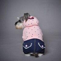 Neo in ấn cotton quần áo Teddy cao bồi pet dog quần áo puppy hoodies cho Giáng Sinh