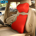 High quality memory foam car Seat  neck Support Pillow Headrest Lumbar Support for toyota ford vw audi back chair cushion