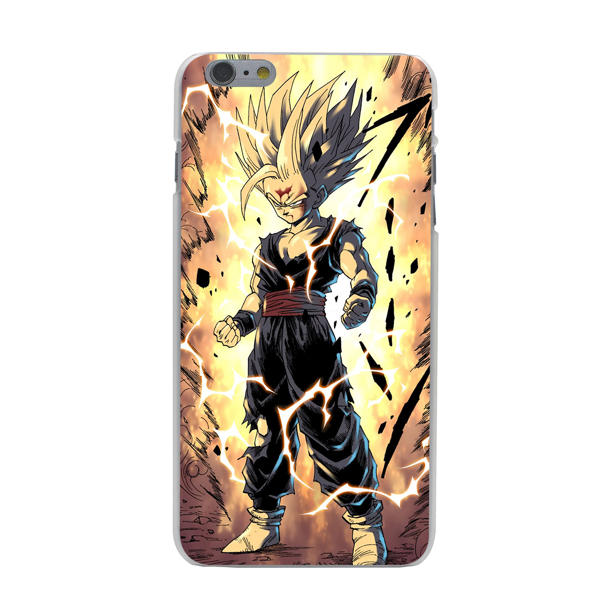 dragon ball z goku hard phone cover case transparent for. Black Bedroom Furniture Sets. Home Design Ideas