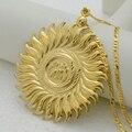 Grandes allah collar colgante-oro islam allah joyería grande mujeres hombres, África/Árabe musulmán jewellry medio east #009112