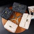 Cecelia 2016 Mulher Big Bag Senhoras Bolsa De Luxo Das Mulheres da Manta Cadeia Flap Bag Ombro Mini Acolchoado Bolsa Preta Bolsas Femininas