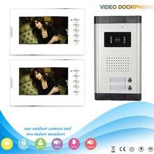 Chuangkesafe srebrny 7 cal 5-przewodowy kolor wideo domofon drzwi ekranu phonefor willa