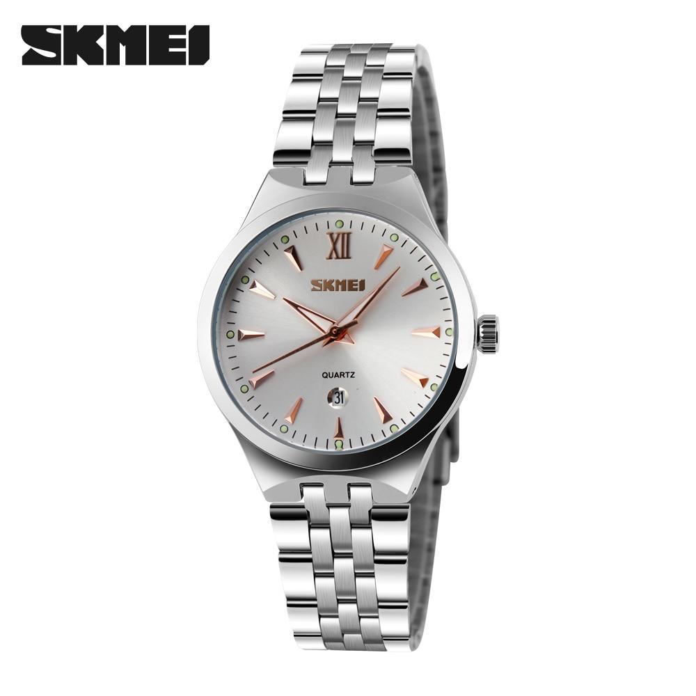 Watches Women Luxury Brand Watch SKMEI Quartz Wristwatches Fashion Sport Stainless Steel Casual Watch Relogio Feminino
