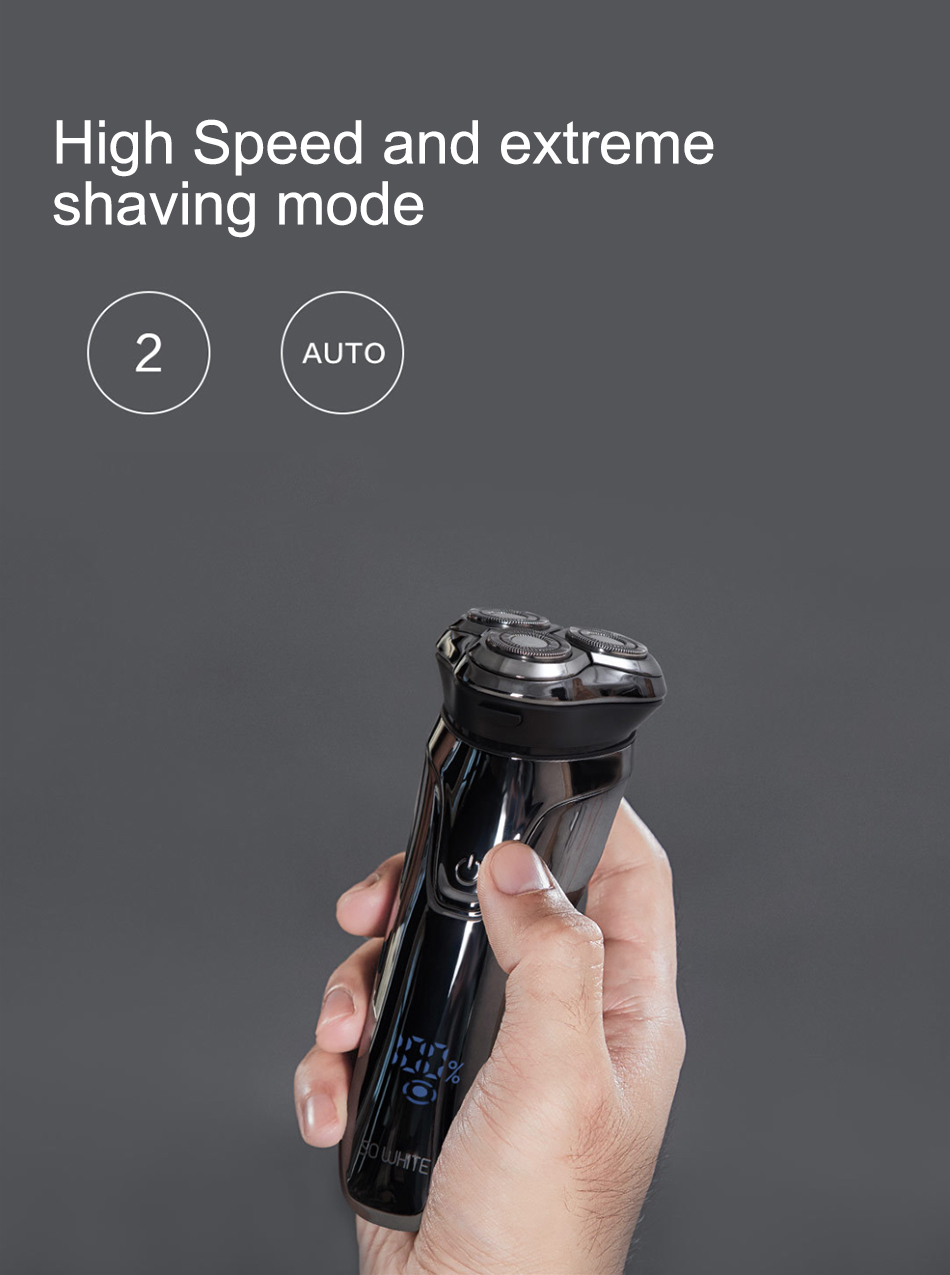 Xiaomi Soocas SO WHITE Electric Razor Shaver For Men With USB Rechargeable And 3D Smart Control 9