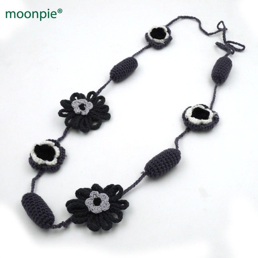 Распродажа серый и черный крючком уход зимой ожерелье, вязание мягкий безопасный ювелирные изделия мама подарок NW1960