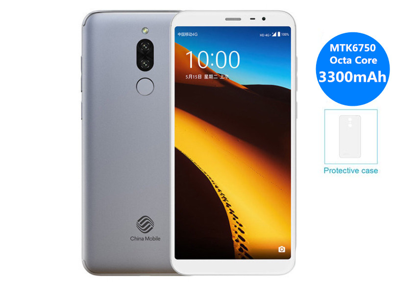 original ChinaMobile A4S 18:9 5.7FHD smartphone Android 7.0 MTK6750 Octa Core 3GB RAM 32GB ROM 13.0MP 3300mAh 4G mobile phone