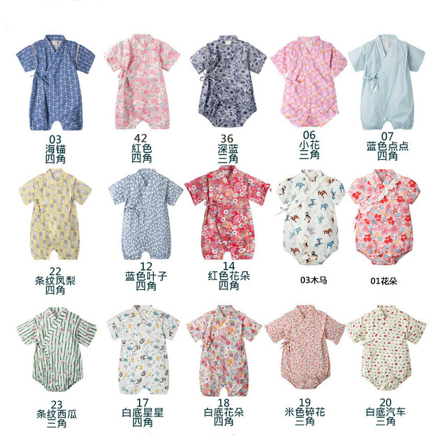 Kimono baby clothes japanese style kids clothes girls romper retro bathrobe uniform clothes infants pajamas floral Costume 2