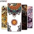 """Para elephone coque s7 case transparente tpu silicone macio da tampa de banda desenhada cão leão case para elephone s 7 5.5 """"plástico diy phone case"""