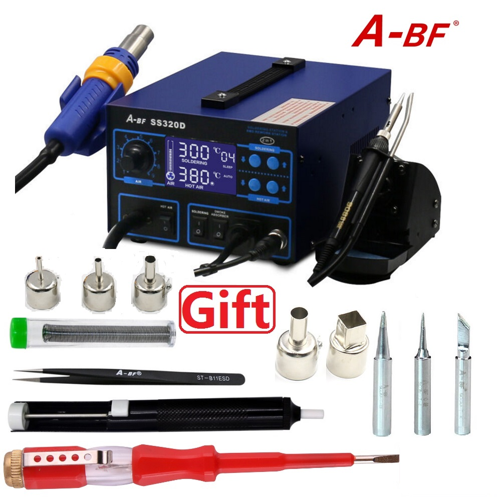 A BF SS320D Soldering Rework Station for Soldering Iron station Desoldering Hot Air Gun Station Soldering