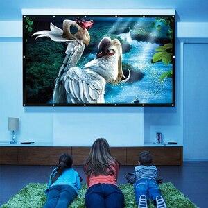 Портативный быстроскладной HD задний проекционный экран 200 дюймов 16:9, прозрачный мягкий ПВХ материал для наружного/внутреннего кинопроекто...