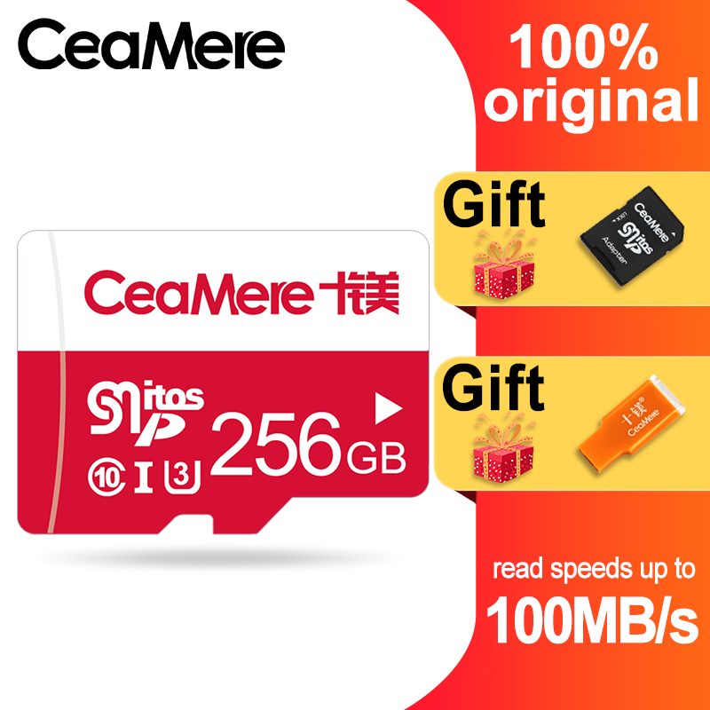 CeaMere Memory Card 256GB 128GB 64GB U3 UHS 3 32GB Micro sd card Class10 UHS 1 flash card Memory Microsd TF/SD Cards for Tablet-in Memory Cards from Computer & Office