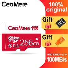 Ceamere cartão de memória 256gb 128gb 64gb, u3 UHS 3 32gb cartão micro sd class10 UHS 1 cartão flash cartões microsd tf/sd de memória para tablet