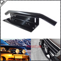 1pc Bull Bar Style Front Bumper License Plate Mount Bracket Holder For Off-Road Lights, LED Work Lamps (Black, Universal Fit)