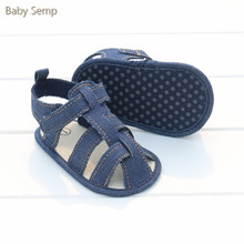 0-12 months infant boy sandals for baby 2017 summer high quality denim baby boy sandal cotton sandalen baby boys newborn sandals