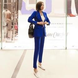BGTEEVER классические женские брючные костюмы однобортный пиджак блейзер и брюки-Карандаш OL Стиль Женские рабочие костюмы элегантный