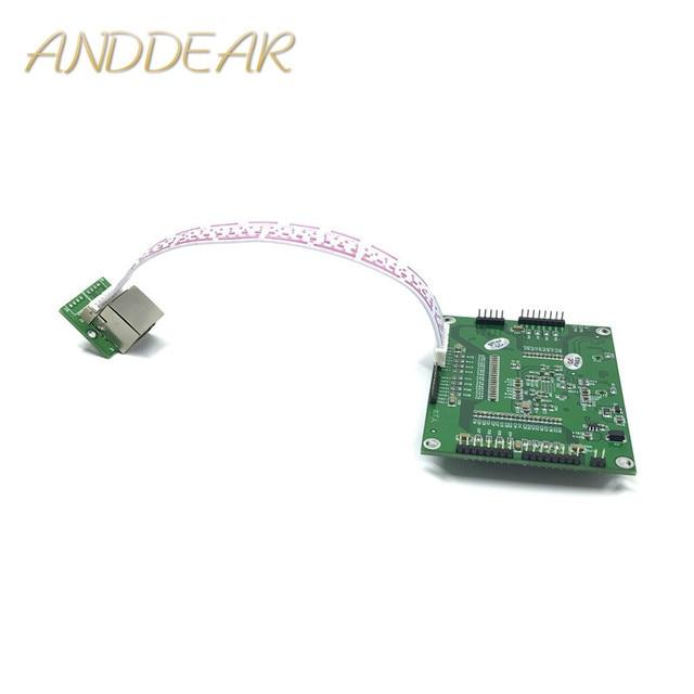 Промышленный мини порт 3/4/5 полный гигабитный коммутатор для преобразования оборудования на 10/100 Мбит/с, сетевой модуль слабого ящика коммутатора