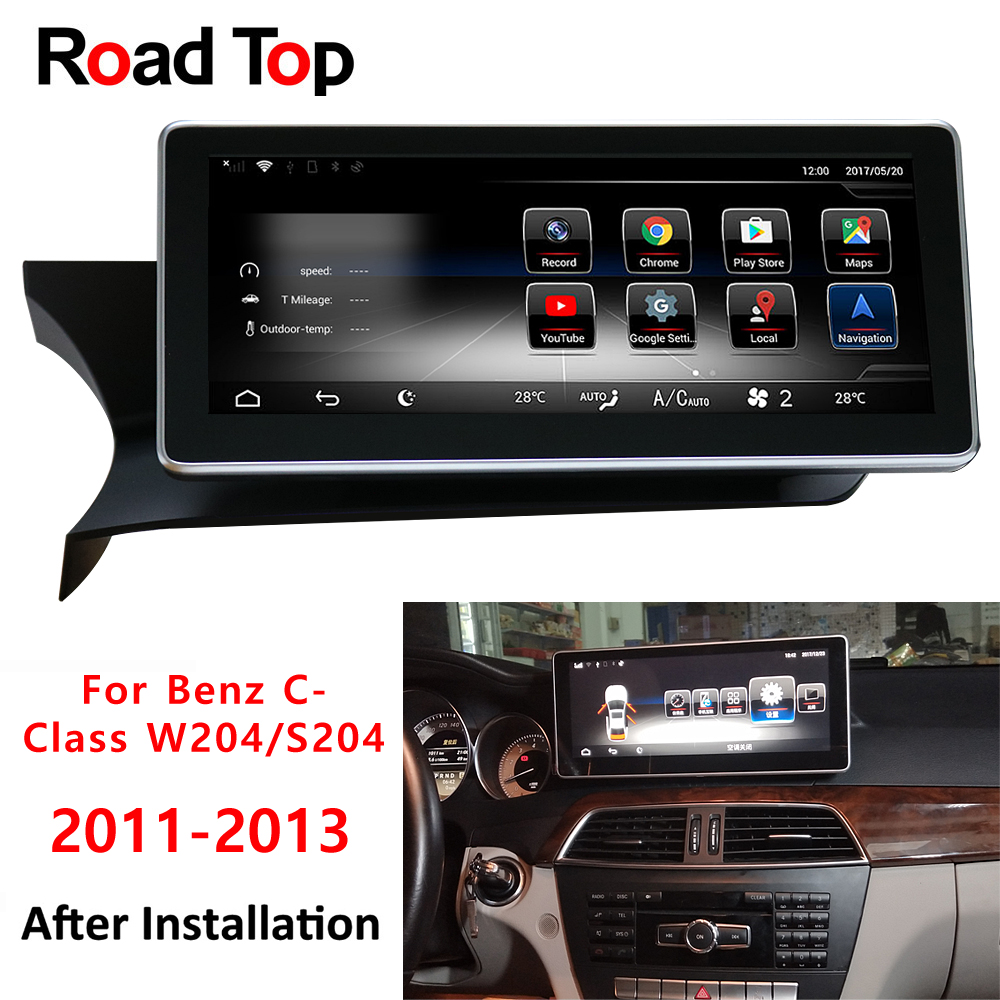 c class w204 2013 for mercedes benz android touch screen gps navigation monitor stereo. Black Bedroom Furniture Sets. Home Design Ideas
