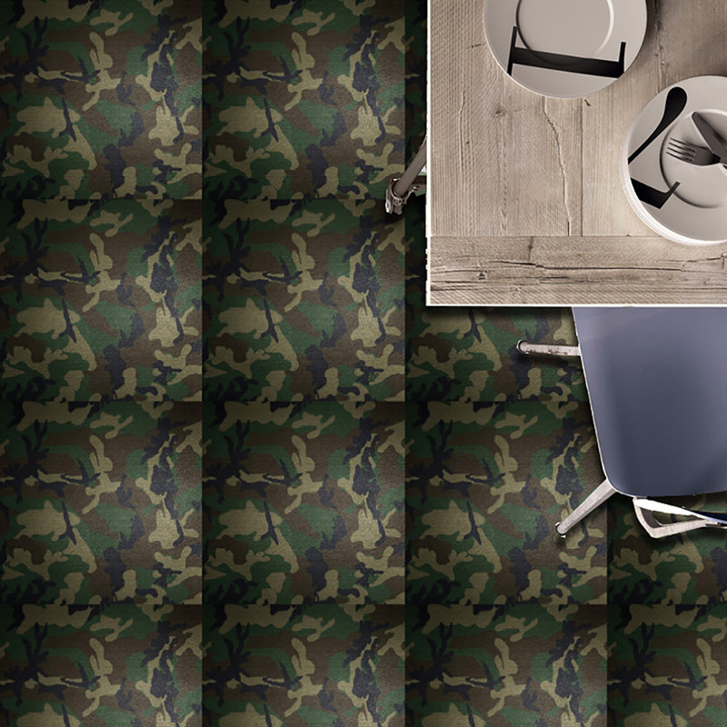 20pclot 3d Green Camouflage Color Tile Stickers Camouflage