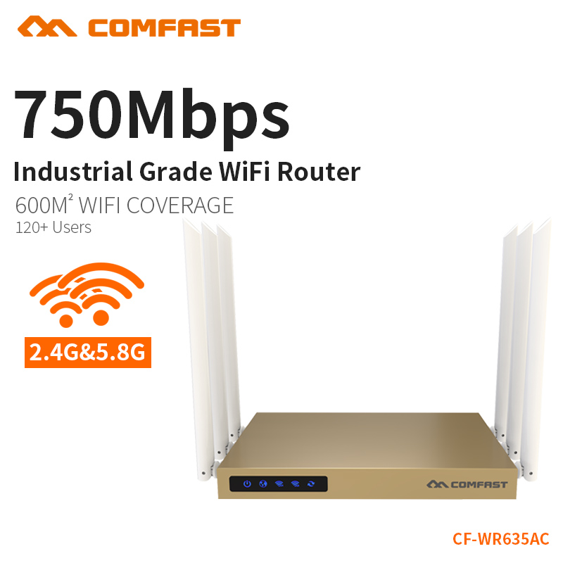 NEW Arrival COMFAST WIFI Router English Version 750Mbps WiFi Repeater 2.4G/5GHz Dual Band WiFi Wireless Routers CF-WR635AC tp link wireless router 802 11ac ac1750 dual band wireless wifi router 2 4g 5 0g vpn wifi repeater tl wdr7400 app routers