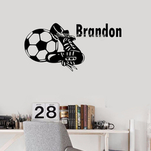 Football Shoes Custom Name Wall Stickers Handsome Soccer Sho
