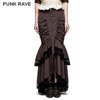 Панк рейв стимпанк Классическая замечательная юбка викторианская кофейная полная юбка женская кружевная Сексуальная вечерняя Вечеринка х