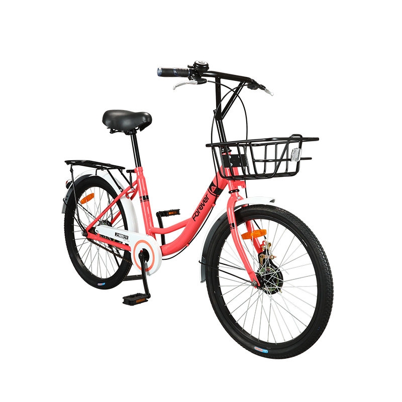 Solid Tire 22 Inch Bicycle Female Adult Student Bicycle Lady Ordinary Travel Commuter Sharing