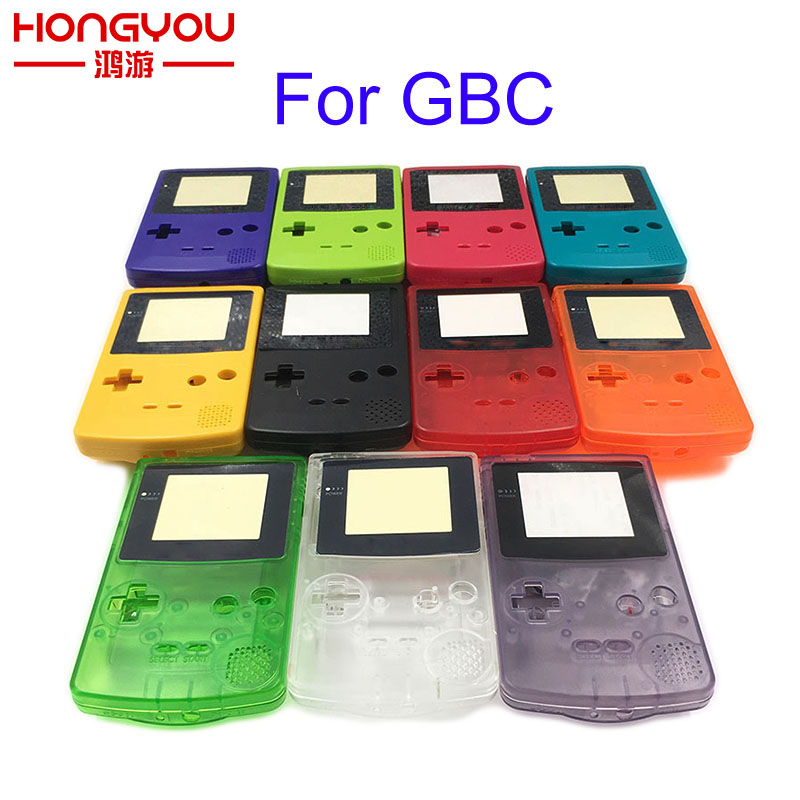 20Sets Clear shell case Replacement For Gameboy Color GBC game console full housing