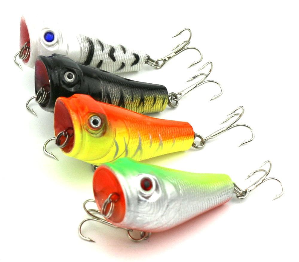 4Pcs Popper žvejybos įrankis 5cm 8g Lifelike Hard Lure - Žvejyba - Nuotrauka 1