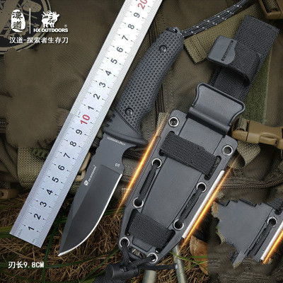 HX OUTDOORS Survival knife outdoor D2 steel high hardness small straight knife outdoor essential tool for self-defense Favorites hx outdoors army survival knife outdoor tools high hardness straight knives essential tool for self defense cold steel knife