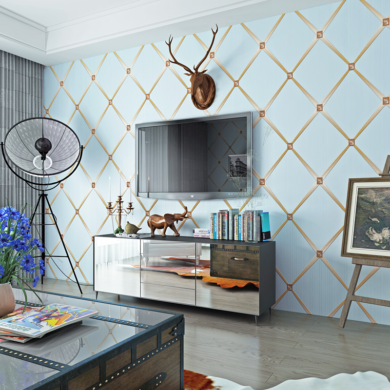 Geometric Wall Papers Home Decor for Living Room Walls ...