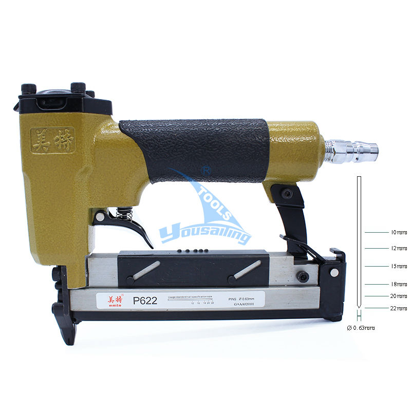 High Quality P622C Pneumatic Nail Gun Air Stapler Gun Tools Brad Nailer Gun dongcheng ff t50dc nail gun air brad nailer 25 50mm straight nail 1 4mm diameter stapler 4 8 bar gun 8mm pipe