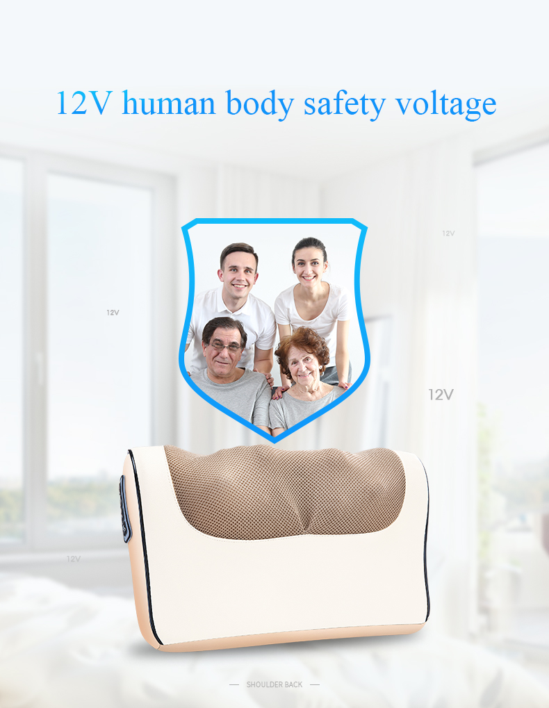 Infrared Heating Neck Shoulder Back Body Multifunctional Massage Pillow Shiatsu Massager Device Cervical Healthy Massageador12