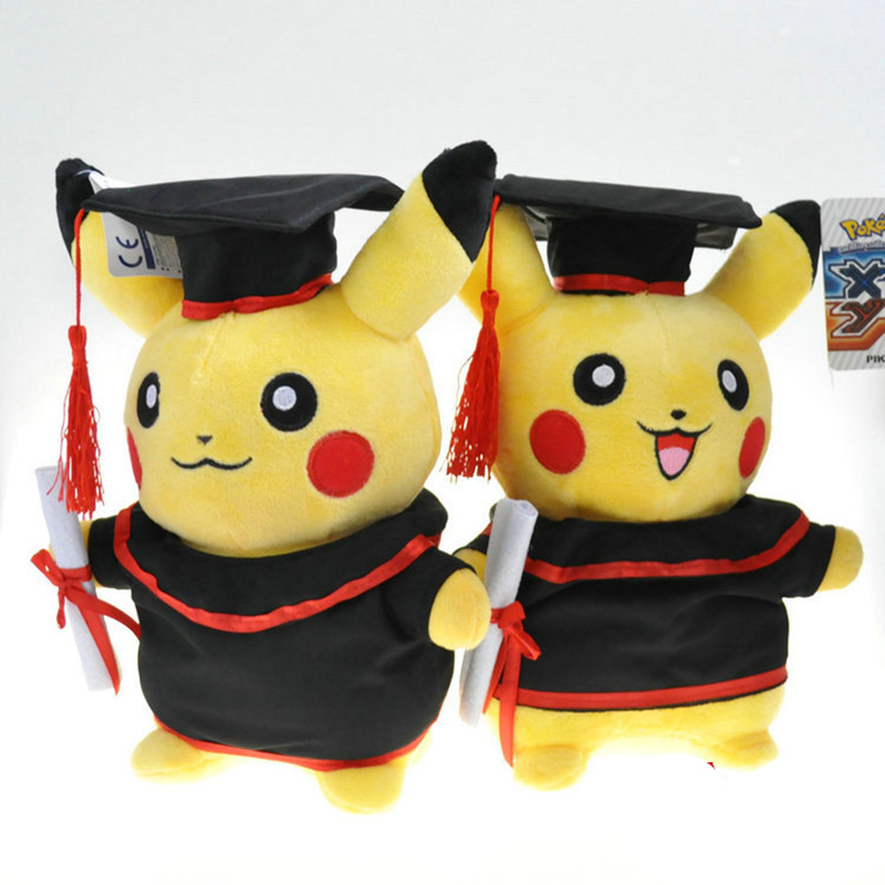 Bachelor Pikachu Animal Dolls,28 CM Cute Baby Plush Toys,Soft Doll Baby Toys , Plush Toys Stuffed Doll High Quality Kids Gift 20cm high quality hello kitty plush toys hug pillow fruit kt cat stuffed dolls for girls kids toys gift mini animal plush doll