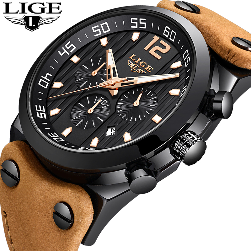 New LIGE Watch Men Top Brand Luxury Business Creative Men Watches Male Casual Leather Waterproof Quartz Watch Relogio Masculino 2018 new lige men watches top brand luxury leather business watch men calendar waterproof sport quartz watch relogio masculino