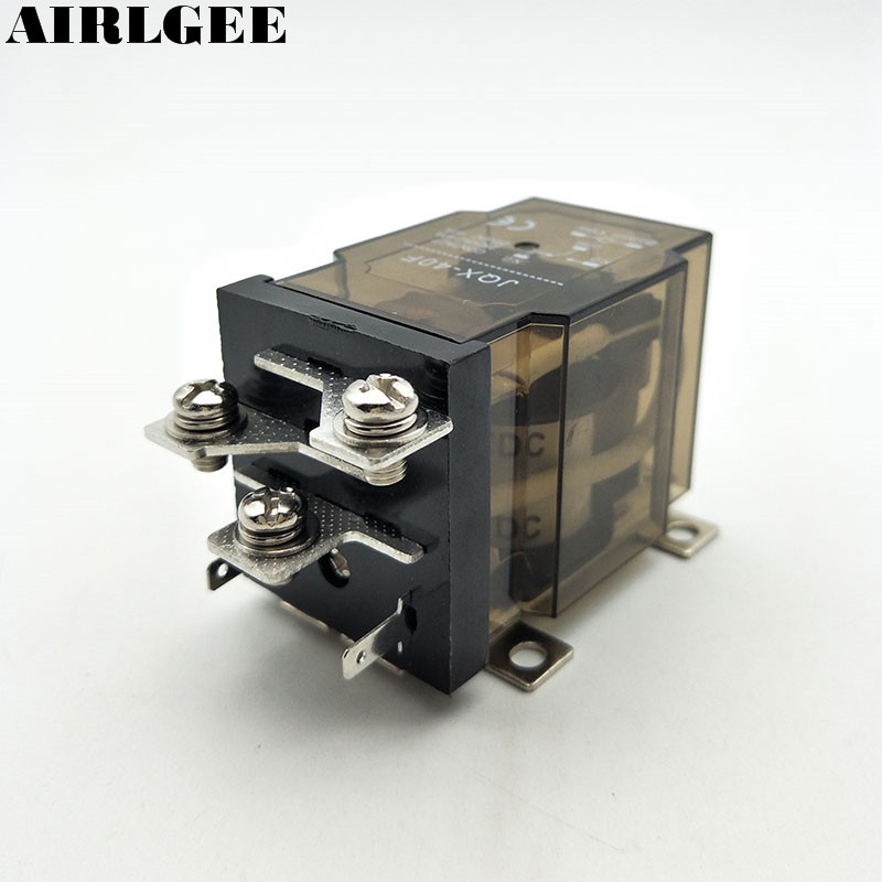 цена на JQX-40F 1Z DC 24V Coil 40A 5 Pin SPDT 1 NO 1 NC Power Relay Free Shipping