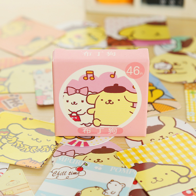 46 Pcs/box Putin Dog Mini Paper Sticker Decoration DIY Diary Scrapbooking Sealing Sticker Kawaii Stationery