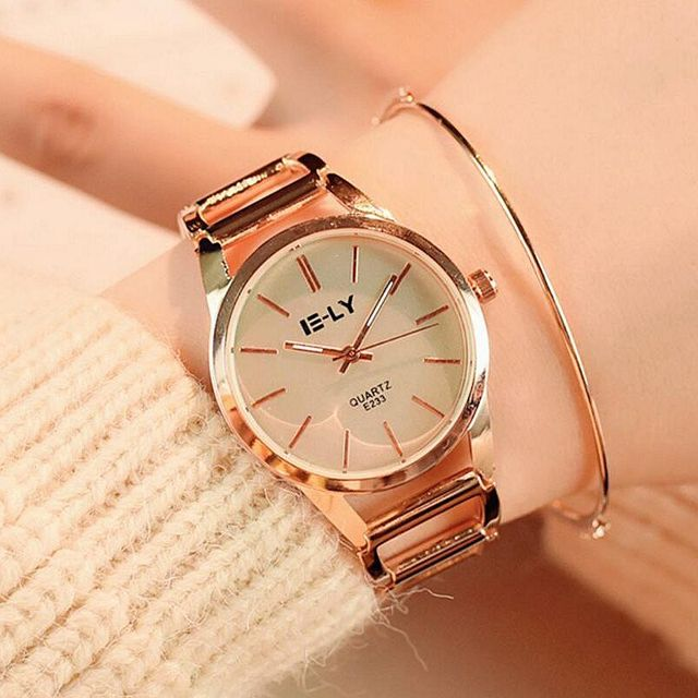 2017 fashion Quartz watch Charming Stainless Steel Bracelet Watch Women Ladies D