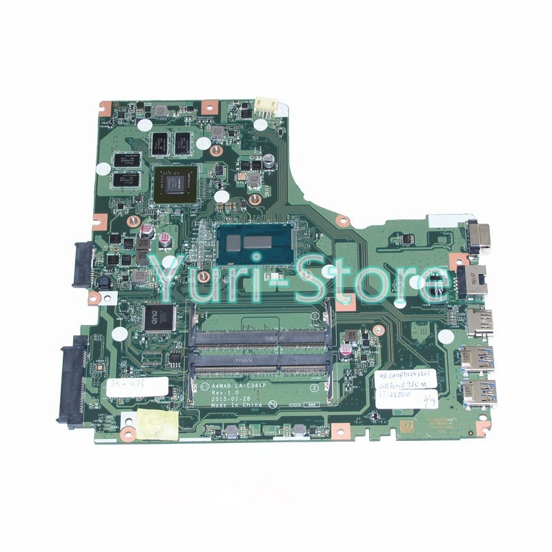 NOKOTION New For Acer aspire E5-473 Laptop Motherboard A4WAB LA-C341P I7-5500U CPU DDR3L GeForce 920M Video Card nokotion for acer aspire m5 481 laptop motherboard nbm3w11002 da0z09mbah0 intel integrated hm77 ddr3