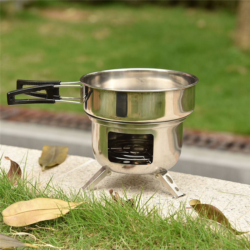 Assembled Multi-functional Picnic Stove Furnace Outdoor Wood Furnace Portable BBQ Grill Barbecue Cooking Picnic Supplies churrasqueira para fogão