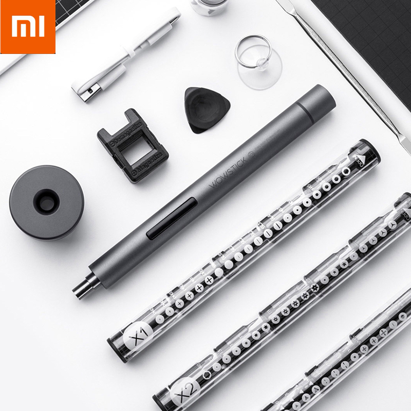 Original Xiaomi Wowstick F1 Upgraded Electric Screwdriver Aluminum USB Charging Screwdriver 56pcs S2 Alloy Steel Hardware