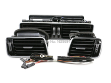 OEM For VW CC Passat B6 B7 R36 refit the piano black air conditioning vent fresh air nozzle +cable