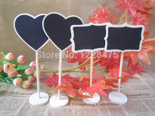 10pcs/lot NEW wooden Blackboard on Place holder For Wedding Party Decorations chalkboards Message board