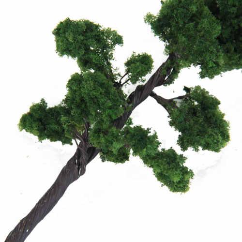 Model sosna Pinus 12cm zielony pociąg architektura kolejowa Diorama HO skala dla majsterkowiczów lub modeli budowlanych