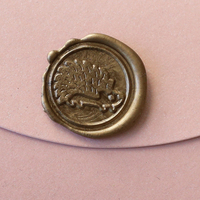 hedgehog High Quality Sealing Wax Classic Wax Seal Stamp Alphabet Letter Retro Wood