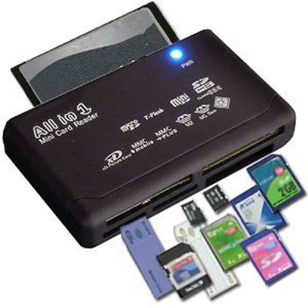الكل في واحد قارئ بطاقات العالمي M2 XD CF مايكرو SD قارئ بطاقات USB 2.0 بطاقة الذاكرة عالية السرعة