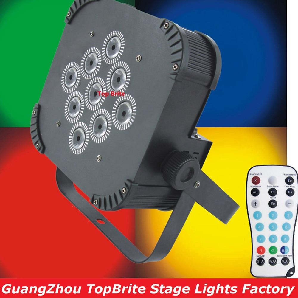 2Pcs/Lot Led Par Light 9X15W RGBWA 5IN1 Led Stage Light High Power 135W LED Flat Par Lights DJ Projector Lighting Fast Shipping