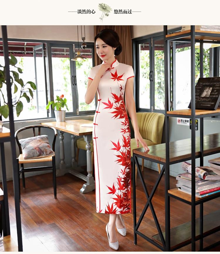2018 spring and summer short dress Slim thin silk cheongsam wholesale short sleeve  cheongsam-in Cheongsams from Novelty & Special Use    1