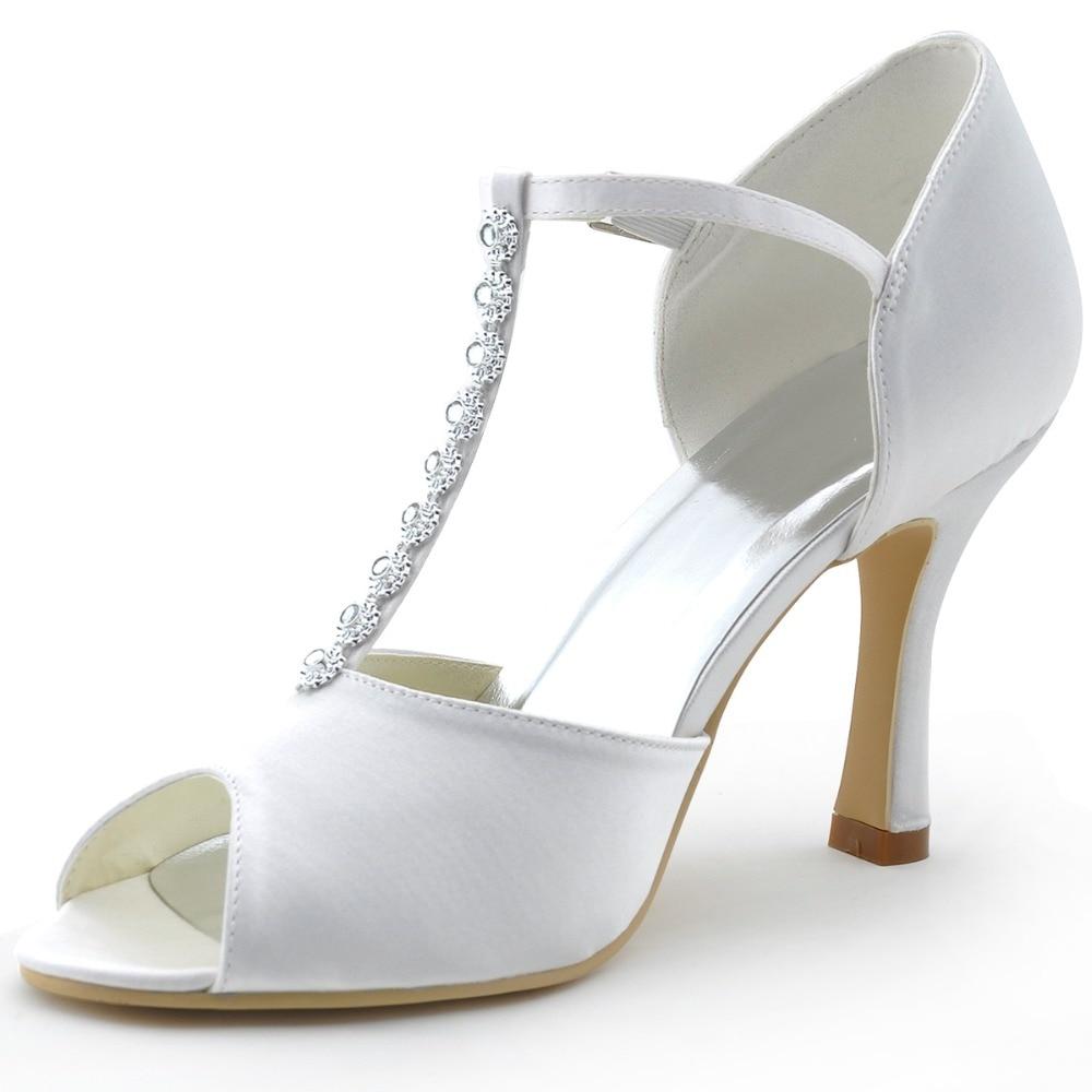 ФОТО MR-001 White Ivory Women Bride Peep Toe Bridal Pumps Rhinestones Stiletto Heel Ankle Straps Buckle Pleat Satin Wedding Sandals