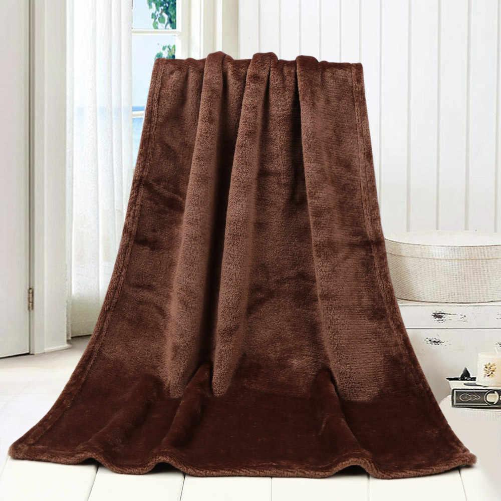 Battaniye için 45*65CM moda katı yumuşak atmak çocuklar battaniye sıcak mercan ekose battaniye flanel battaniye yataklar için Manta