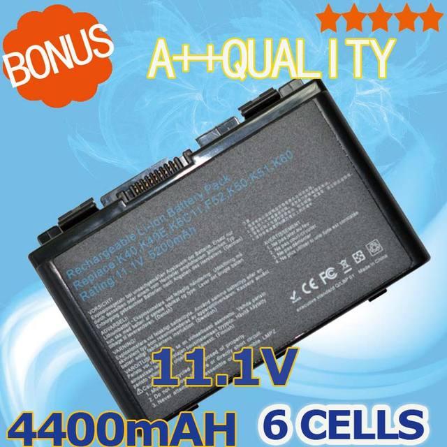 4400mAh Battery For Asus Pro5DI X8AAD  K50E Pro5DID X8AAF K50I Pro5DIE X8AE K50ID Pro5DIJ X8AEA  K50IE  Pro5DIL X8AI  K50IJ